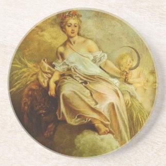 Ceres (Summer) by Antoine Watteau Sandstone Coaster