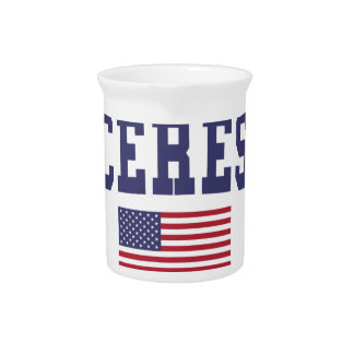 Ceres US Flag Drink Pitchers
