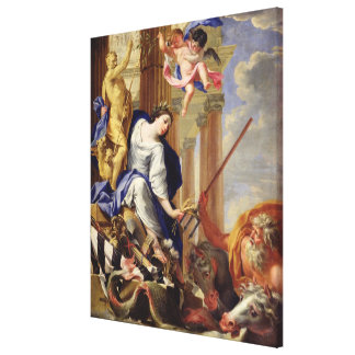 Ceres Vanquishing the Attributes of War Stretched Canvas Print