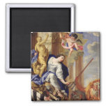 Ceres Vanquishing the Attributes of War 2 Inch Square Magnet