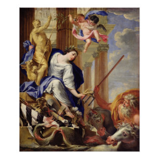 Ceres Vanquishing the Attributes of War Poster