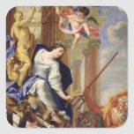 Ceres Vanquishing the Attributes of War Square Sticker