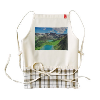 Ceresole lake, Italy Zazzle HEART Apron