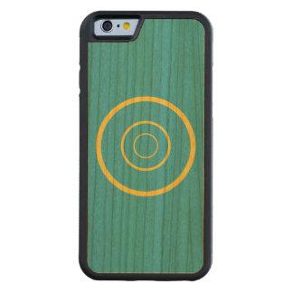 Cereza amarilla del parachoque del círculo del funda de iPhone 6 bumper cerezo