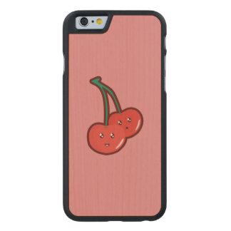 Cereza de Kawaii Funda De iPhone 6 Carved® De Arce