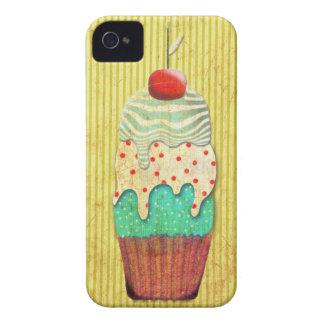 Cereza de la magdalena del limón de la magdalena funda para iPhone 4 de Case-Mate
