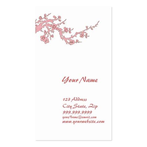 Cereza de la tarjeta del perfil de la tarjeta de v tarjetas de visita