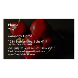 Cereza de las cerezas de la fruta tarjeta personal