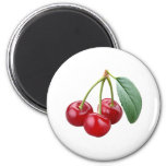 Cereza de las cerezas imán redondo 5 cm
