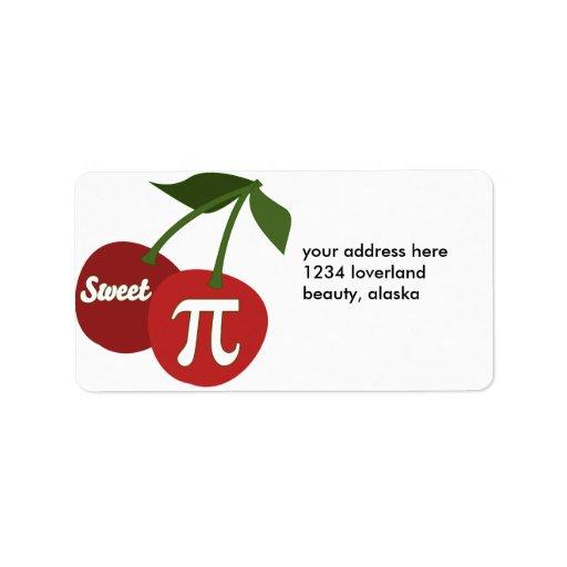 Cereza dulce pi etiquetas de dirección