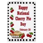 Cereza empanada día 20 de febrero nacional tarjeta de felicitación