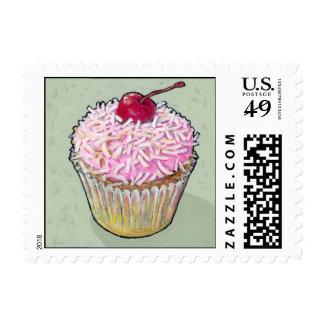 Cereza en el top sello postal