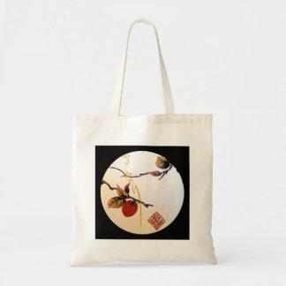 Cereza madura en rama bolsa tela barata