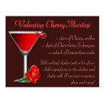 Cereza Martini de la tarjeta del día de San Valent Postal