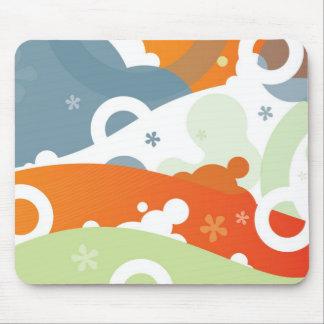 Cereza Mousepad enrrollado abstracto moderno retro