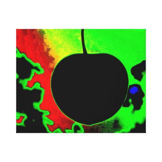 Cereza negra impresion de lienzo