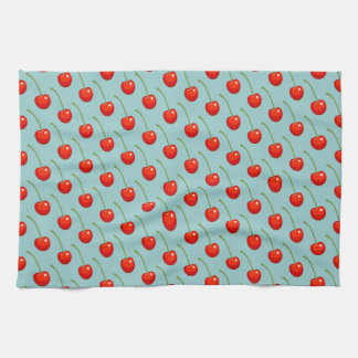 Cereza roja dulce toallas de mano