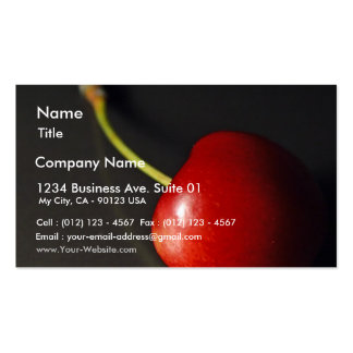 Cereza roja en oscuridad plantillas de tarjetas personales