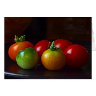 cereza-tomatos tarjeta de felicitación