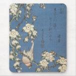 Cereza y Bullfinch que lloran, Hokusai, Mousep Alfombrilla De Ratón