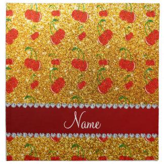 Cerezas amarillas conocidas personalizadas del servilleta de papel