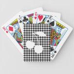 Cerezas blancas con guinga negra baraja de cartas