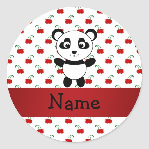 Cerezas conocidas personalizadas del rojo de la etiqueta redonda