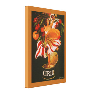Cerezas de Cirio del vintage italianas Impresión En Tela