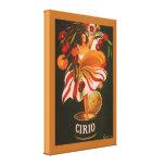 Cerezas de Cirio del vintage italianas Lienzo Envuelto Para Galerias