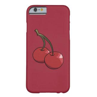 Cerezas de la cereza en rojo funda barely there iPhone 6