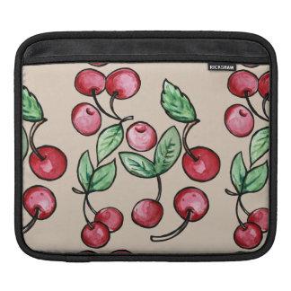 Cerezas de la cereza mangas de iPad