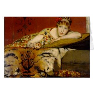 Cerezas de Lawrence Alma-Tadema Tarjeton