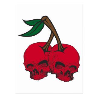 Cerezas del cráneo postales