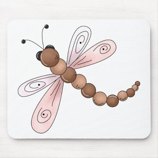 Cerezas del país · Brown y libélula rosada Tapete De Raton