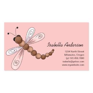 Cerezas del país · Brown y libélula rosada Plantillas De Tarjetas Personales