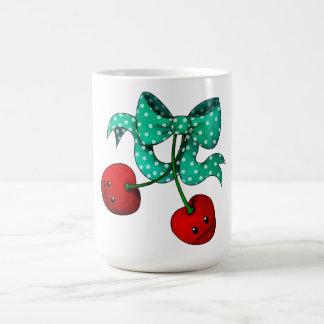 Cerezas dulces tazas de café