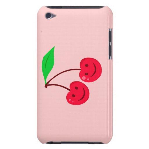 cerezas felices sonrientes de la cara iPod touch Case-Mate cobertura
