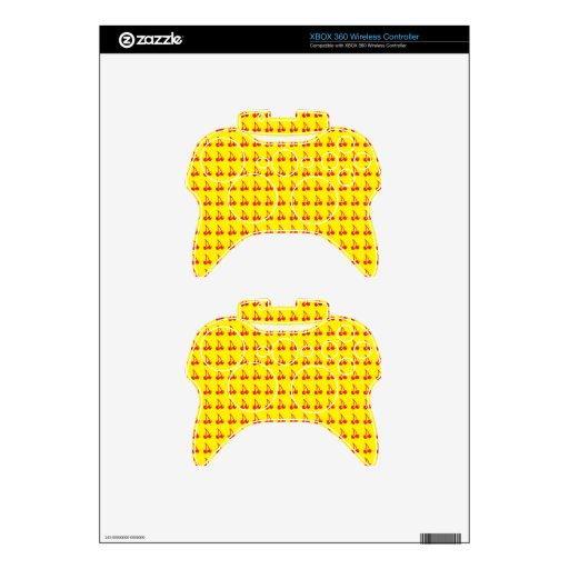 Cerezas lindas en amarillo mando xbox 360 calcomanía