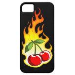 Cerezas llameantes iPhone 5 Case-Mate carcasa