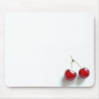 Cerezas rojas alfombrilla de raton