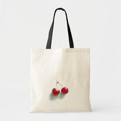 Cerezas rojas bolsa tela barata