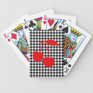 Cerezas rojas con guinga negra baraja de cartas