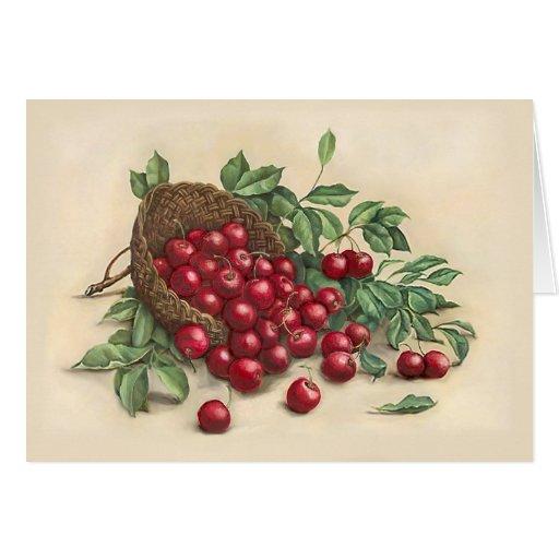 Cerezas rojas dulces felicitaciones