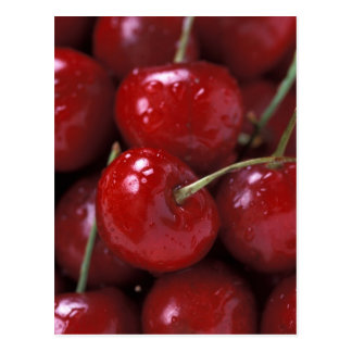 Cerezas rojas grandes postales
