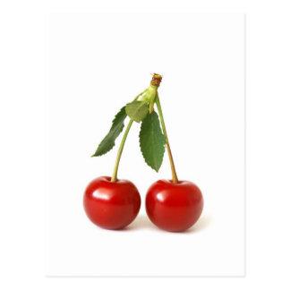 Cerezas rojas postales