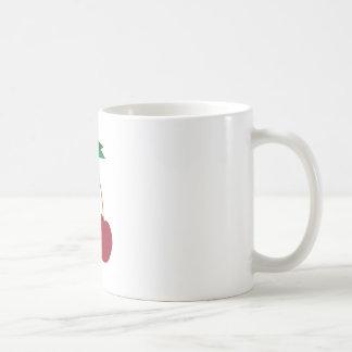 Cerezas rojas taza