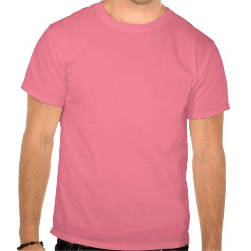 Cerezas rosadas camisetas