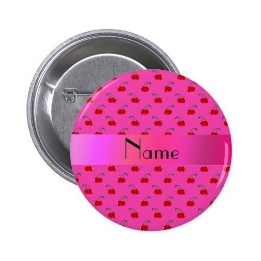 Cerezas rosadas conocidas personalizadas pin