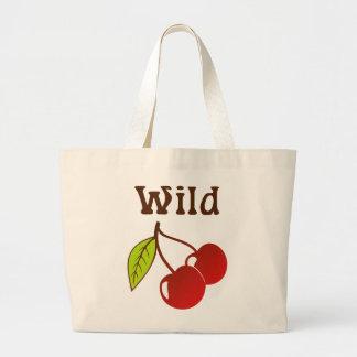 Cerezas salvajes bolsa tela grande