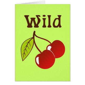 Cerezas salvajes tarjeta de felicitación